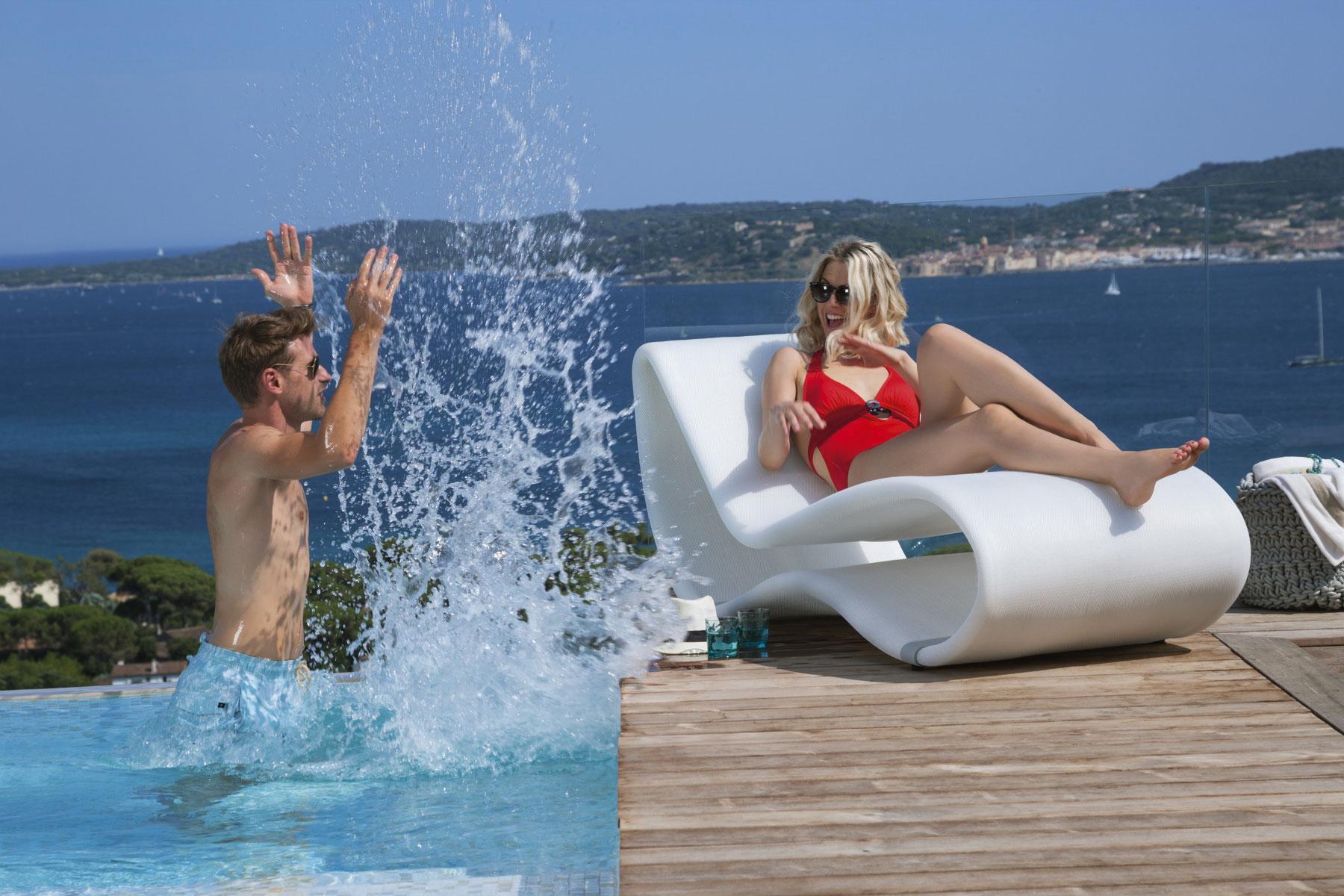sunbed outdoor chaise longue made in italy manufacturer design garden luxury karim rashid pool garden yacht hotel