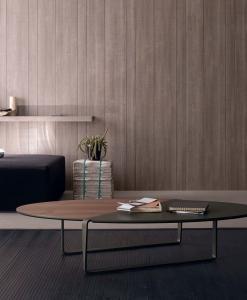 arredamento casa / ufficio on line moderno di lusso 2015 design web salotto soggiorno basso divano da fumo made in italy tavolino ovale in metallo MDF