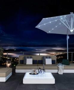 ombrellone made in italy parasol da giardino esterno design LED