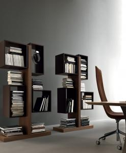 libreria biblioteca arredamento casa ufficio on line moderno di lusso 2015 design inspiration web made in italy noce laccato originale contemporaneo