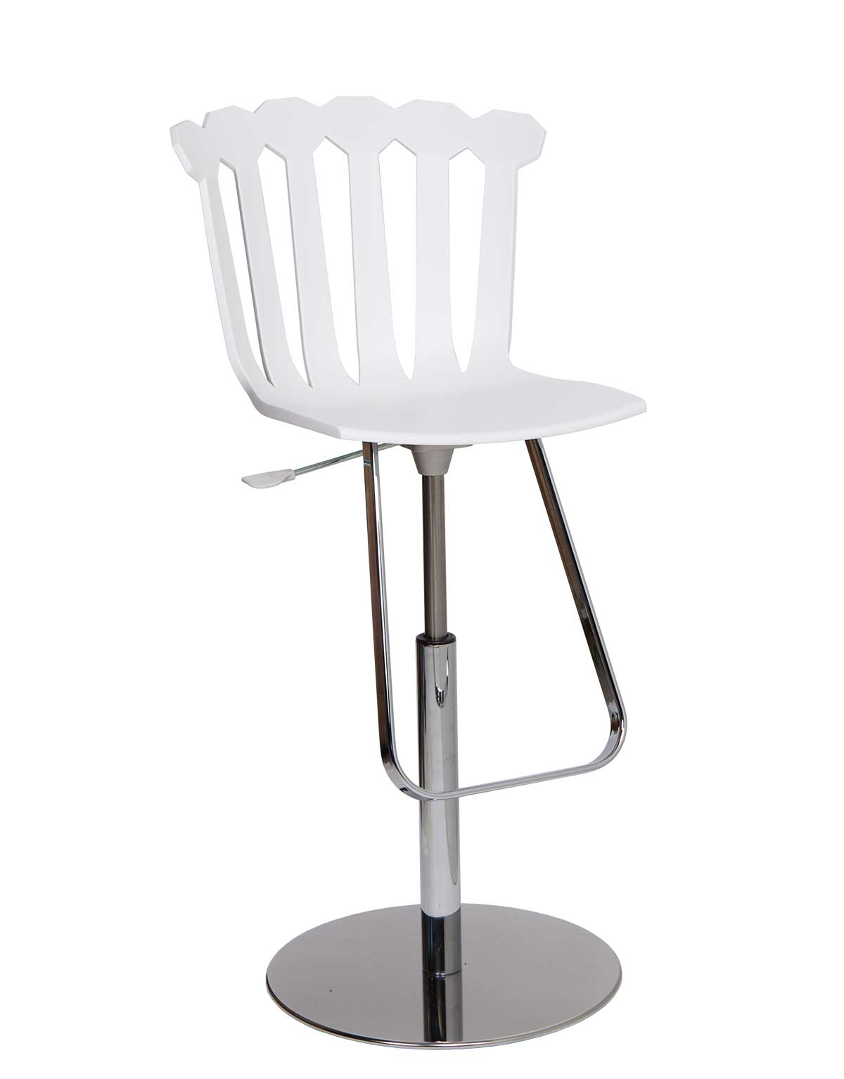 Tulip, entirely handcrafted in Italy, is an original adjustable bar stool, available in 3 different colours. Shop now for metal bar stool, made in Italy.